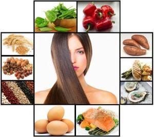 Hair Food Collage